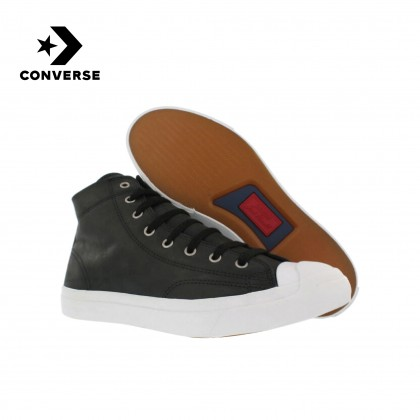 Converse Jack Purcell Mid Boot Leather (Black/White)